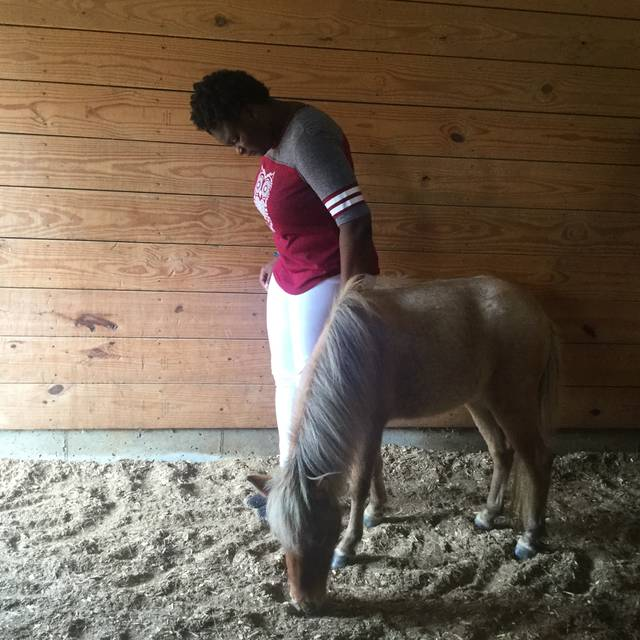 Some of the girls while still at the ranch are already giving back to the Fayette County community before leaving to be on their own. Most recently, one of the young women at the ranch (pictured) sung the national anthem at the 2017 Fayette County Fair.