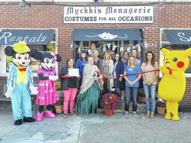 The Fayette County Chamber of Commerce recently honored Costumes For All Occasions, located at 631 E. Temple St., for being in business for 25 years.