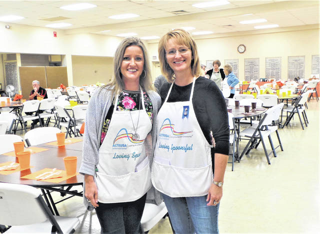 "Under the guidance of co-chairs (left to right) Melynda Iles and Julie Hidy, Altrusa International of Washington C.H. held a successful ""Loving Spoonsful"" tasting luncheon on Saturday at the Fayette County Commission on Aging. See inside for more photos from the event."