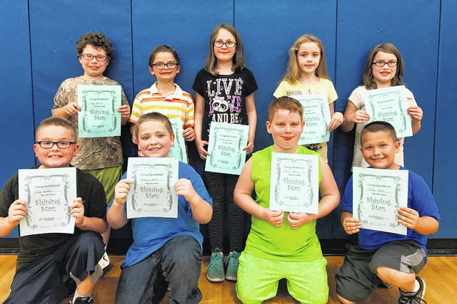 "Belle Aire Intermediate School recently announced the September ""Above the Line"" Students of the month. Pictured are the third grade students."