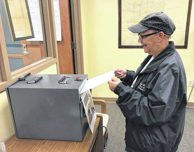 On Tuesday, Fayette County resident Paula Stepter cast her ballot for the general election early at the local Board of Elections office.