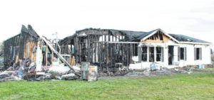 Fire destroys home on Sheley Road