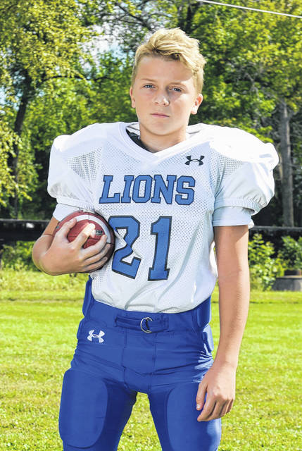 Logan Presley, a sixth-grader at the Washington Middle School, was named the White Lions' Defensive Player of the Week for Sept. 30. Presley had 10 tackles against the Blue Lions. He caught one pass for 30 yards as the White Lions topped the Blue Lions, 25-12.
