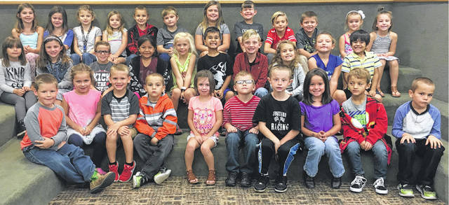 The Miami Trace Elementary School named the September Students of the Month recently and gathered them for a photo. Pictured (L to R) are the kindergarten through second grade students selected: front row: Henry Meyer, Kamri Reno, Carson Cooper, Gabriel Chain, Daphne Zink, Bentley Ervin, Zachary Caldwell, Gracie Swaney, Jace Noble and Blakeley Chain. Middle row: Kayla Cagg, Maya Rickman, Henry Dhume, Janessa Cruz, Celia Morrison, Christian Lippert, Lane Coe, Colleen Gary, Hartley Allen and Mason Haslett. Back row: Ella Butts, Izzy Hall, Sydney Forsha, Kiera Leach, Braiden Berry, Landon Horton, Makinzyn May, Austin Woods, Carter Davidson and Xavier Lowe.