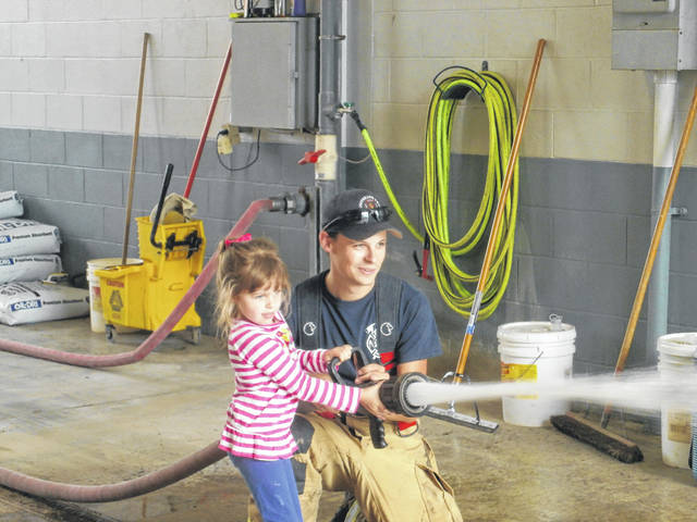 In honor of Fire Prevention Week, Miss Bonnie's Story Hour Group traveled to the Jeffersonville Fire Department.