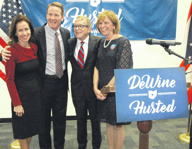 Gubernatorial candidate Mike DeWine announced Thursday that Secretary of State Jon Husted will be his running mate.