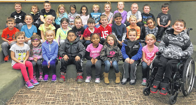 Miami Trace Elementary School recently announced the October Students of the Month. The Pre K-Second grade students of the month were: front row: Madilyn Ross, Gabriella Webb, Avery Napier, Iker Mendoza, Asia Baker, Payton Jackson, Jensen Riley, Josey Fallon and James Bethel. Middle row: Hagen Hastings, Addyson Weatherby, Sadie Williamson, Rylee Stevenson, Rhylee Payton, Tyler White, JD King, Bryce Carpenter, Cam Thoroman and Luxie Anderson. Back row: Zane Yeazel, Wyatt Redding, Will Helsel, McKenna Payton, Taegan Wood, Khloe Wilson, Leland Adams, Leah Bookwalter, Lindsey Warnock, Jamison Black, Cullen McQuade and Mac Thoroman.