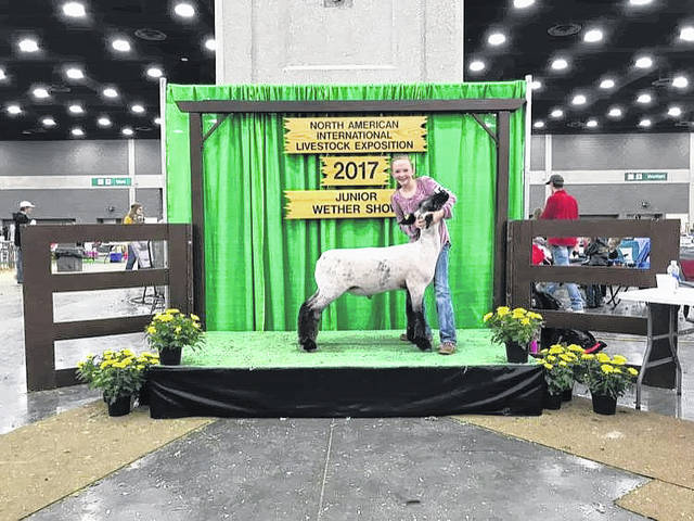 Mara Simonson of Washington C.H. recently attended the livestock show in Louisville, Ky., also known as the NAILE. She placed 12th with her lamb, Phineas. Different livestock from all across the U.S. are brought into the Kentucky Expo Center for this national show that lasts over a two-week period. This was Mara's first time attending the show.