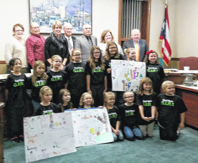 Girl Scout Troop 2831 also was in attendance for Wednesday's city council meeting to make a presentation about adding play equipment to the city park for special needs children.