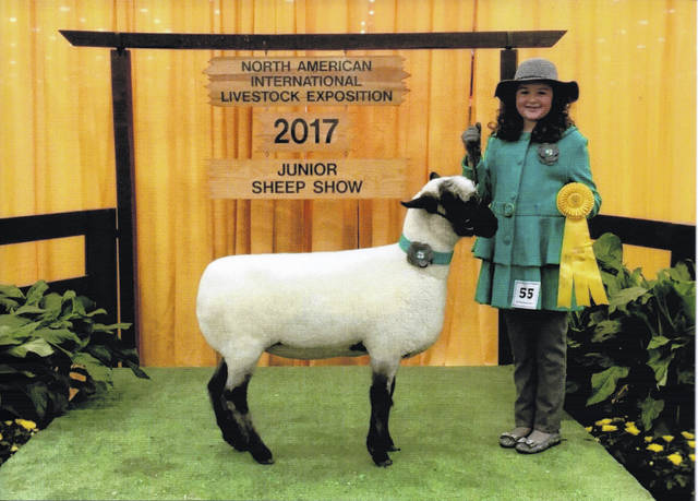 Natalie Lindsey recently placed fifth in her age division in the Guys and Gals Sheep Lead.