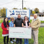 FCMH Foundation receives donation from Hay's Tire & Auto
