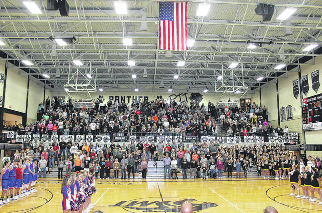 The Panther Pit, the gymnasium at Miami Trace High School, is pictured prior to a basketball game against Clinton-Massie during the 2016-17 season. This will be the final season for the Panther Pit and Miami Trace has many special recognitions planned to celebrate the historic building, one of the largest and oldest gyms of any high school in this area.