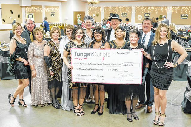 Tanger Outlets donated $3,891 to the FCMH Foundation during the foundation's Great Gatsby Gala.