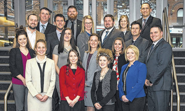 8bbac664b318 Ohio Farm Bureau s Young Agricultural Professionals are front row from left   Emily Krikke