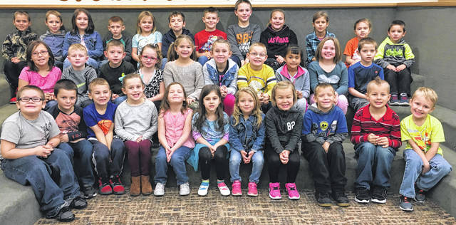 Miami Trace Elementary School recently announced the October Students of the Month. The Pre K-Second grade students of the month were: front row: Trenton Brown, Andy Waddle, Brantley Shepard, Kate Gullett, Sabby Deakyns, Caleigh Keller, Alexis Saltz, Madison Seymour, Isaac McCarty, Ethan Johnson and Mason Langley. Middle row: Lyanna Self, Zeller Kirkpatrick, Ryan Hatert, Moleigh Picklesimer, Olivia McLaughlin, Kenzie Dray, Ethan McIntier, Esme Rodriquez Pena, Rayven Kinzer and Matthew Klages. Back row: Reed Miller, Eli Dill, Cailin Blair, Jeremiah Green, Keira Leach, Sylar Lyons, Craig Beaver, Matthew Barnard, Josilin Steele, Lily Siler, Matthew Webster and Lynnlee Warner.