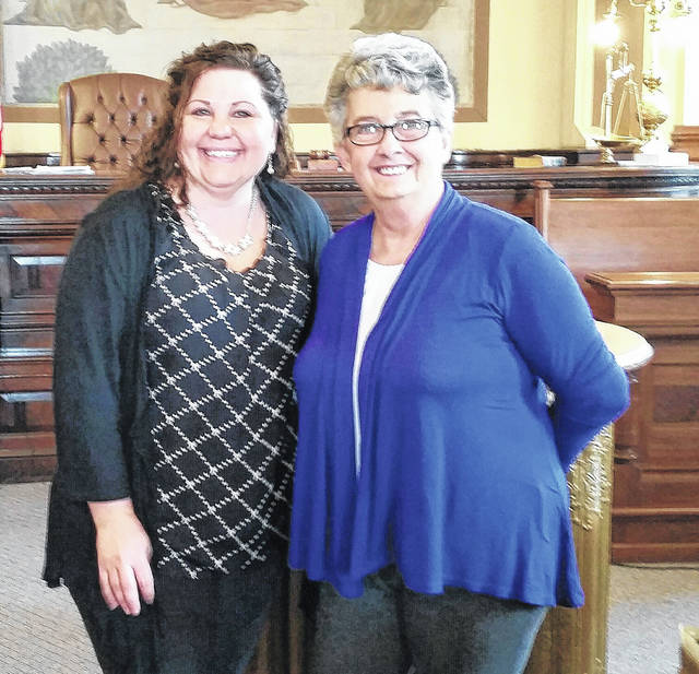 """Amy Jackson, Fayette County Veteran Service Officer, and new board member, Patricia """"Patty"""" Dewees."""