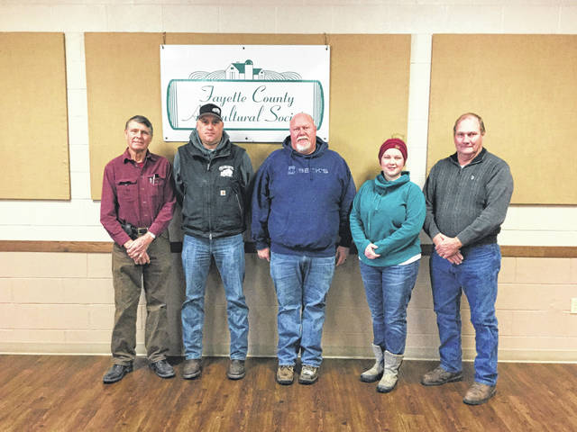 The Smokin' Ham Band will perform for a Valentine's Dance at the Fayette County fairgrounds on Feb. 10. The Fayette County Ag Society recently thanked its sponsors. Pictured (L to R) Wayne Arnold with the Ag Society, sponsor Bruce Collins of Collins Septic, sponsor Jason Gentry of Becks Seed, Amanda Ivey with the Ag Society and sponsor Crop Production representative Dennis Garringer. Other sponsors for the event include Gustin Seed Farm, 3-C Cab, Amore Pizza, Community Sanitation and Metzger Ins-Western Reserve Ins.