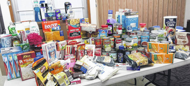 "Generous patrons donated scores of items to Carnegie Public Library's ""Food and Sundries Drive,"" which ran through November and December. The items will be taken to The Well at Sunnyside and the local food pantry. Thank you to all who helped make this endeavor a success!"