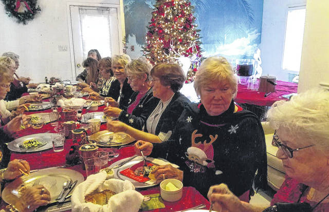 The Fayette Garden Club held its Christmas Luncheon recently. Those in attendance were: Debbie Carr, Marge Clifford, Mary Jane Esselburne, Mary Estle, Julia Hidy, Shirley Johnson, Jodi Kirkpatrick, Lynn Maust, Joanne Montgomery, Linda Morgan, Pat Parsons, Pam Rhoads, Barbara Sams, Jean Smith, Linda Warfield and guest Sandi Kelley.