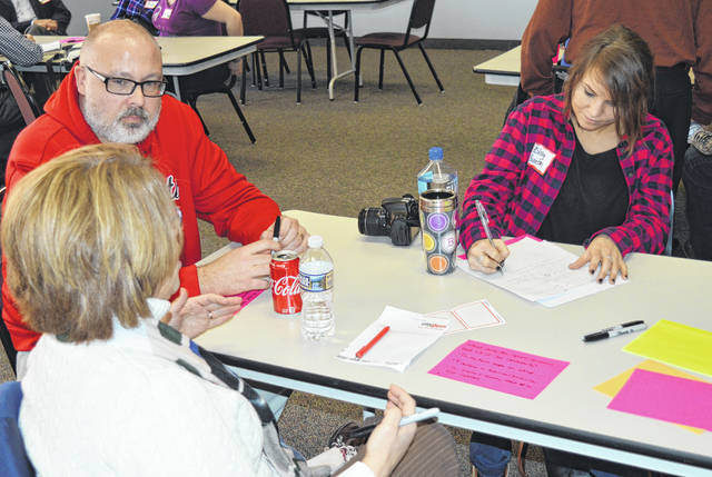 More than 50 local citizens as well as journalists gathered at the Your Voice Ohio event Sunday in Wilmington. Record-Herald reporter and Your Voice Ohio contributor Ashley Bunton (right) was in attendance for the event.