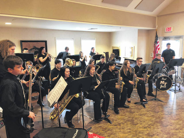 On Feb. 14, the Miami Trace High School Jazz Band performed for residents at the Four Seasons and Court House Manor. The students entertained the crowd with jazz standards, rock and roll, funk, and Latin music.