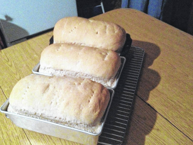 Wheat bread in an Amish home in Indiana.