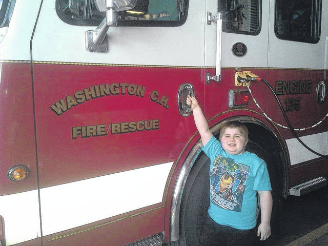 Xavier Swiger encouraged the community to stop by on Friday, March 16 as Team X-Man and members of the Washington Fire Department will open the Washington Fire Department at 215 E. Market St. from 5 to 9 p.m. to collect donations during the Fill the Boot event.
