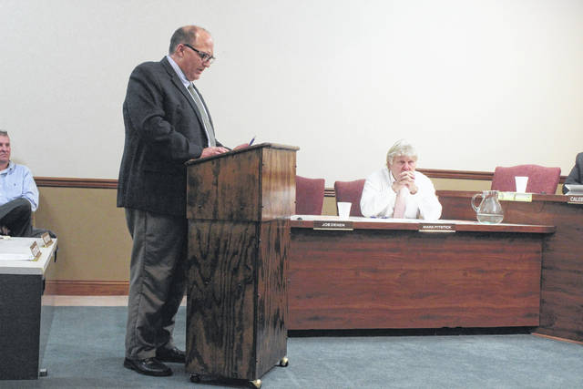 """Washington Court House City Manager Joe Denen spoke to city council Wednesday with the """"State of the City"""" address."""