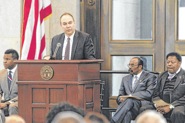 State Senator Bob Peterson reflected on the life and legacy of Dr. Martin Luther King, Jr. on Wednesday when he joined the Ohio Dr. Martin Luther King, Jr. Holiday Commission for a special memorial event.