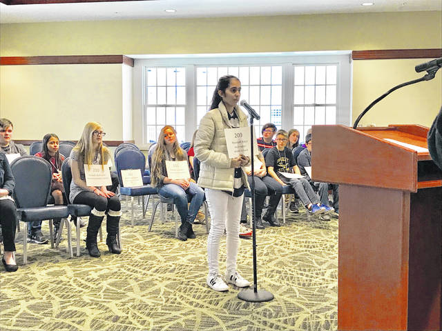 Navneet Kaur recently finished in the top 20 in Ohio for the Scripps College of Communication Regional Spelling Bee.