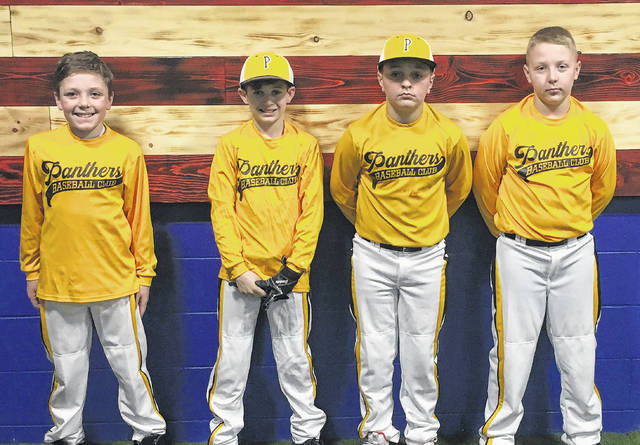 The 11u Panthers Baseball Club won the DiamondZ Winter Hitting League this past week weekend in London – both champions with Team No. 2 and runner-up champions with Team No. 1. Team No. 1 (l-r); Marcus Jackson, Xavier Lawhorn, Evan Colegrove and Walker Glispie.