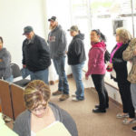 Residents file taxes before deadline