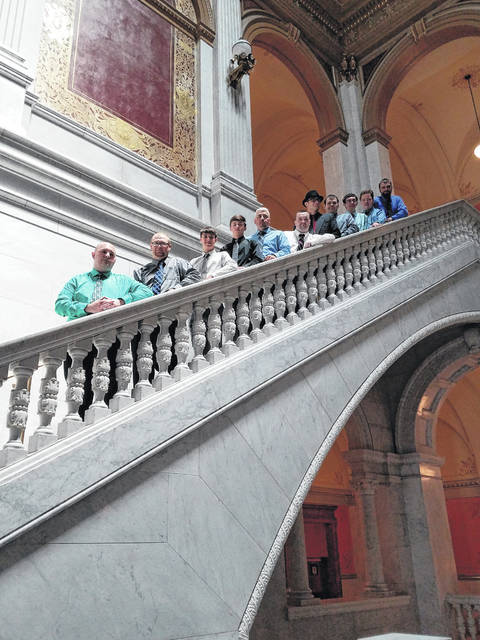 The Fayette County Dragons Special Olympics basketball team visited the Ohio Statehouse Wednesday and was honored for their victory in Division II this year. The team received a tour of the statehouse and enjoyed the beautiful rooms and paintings.