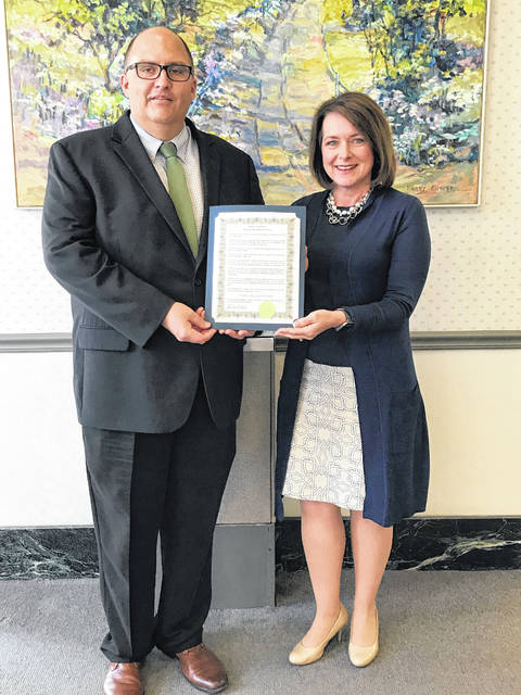 Washington C.H. City Manager Joe Denen recently issued a proclamation in support of National Small Business Week, along with Fayette County Chamber of Commerce President Julie Bolender.