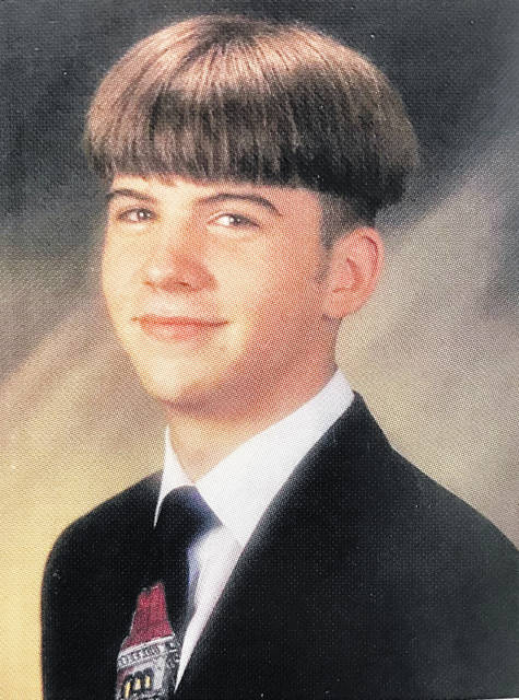 """On Friday, Washington Court House City Schools (WCHCS) will dedicate a campus road as """"Steven Eric DiSario Way."""" Pictured is Steven Eric DiSario when he graduated from Washington Senior High School in 1997."""