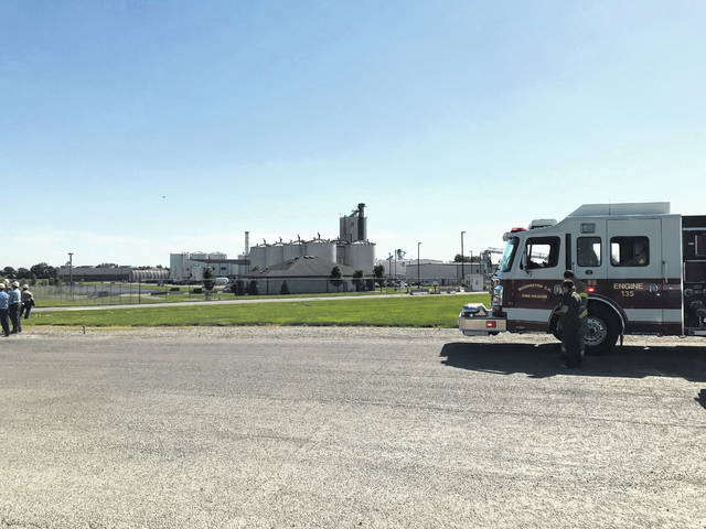 Multiple agencies responded to a natural gas leak Monday afternoon as the Valero Bloomingburg Ethanol Plant was evacuated.