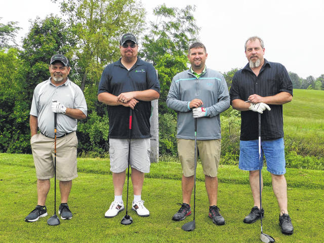 The United Way of Fayette County's annual golf outing was held June 1 at Crown Hill Golf Club in Williamsport. This is the largest fundraiser event of the year for United Way of Fayette County. The first team consisted of (left to right) Tom Tompkins, Cory Atley, Brad Dinnen and Doug McCauley.