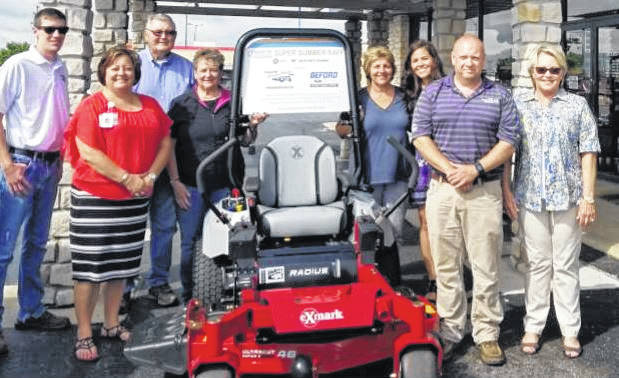 From left to right, Kurt Baxla – Baxla Tractor Sales; Whitney Gentry- Foundation Director, Ron Ratliff, Norma Kirby, Shirley Pettit – FCMH Foundation board members, Steph Campbell – FCMH Foundation Coordinator, Steve Mossbarger, Connie Beford – Beford Ford Lincoln.