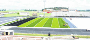 Turf being installed on MT's new football field