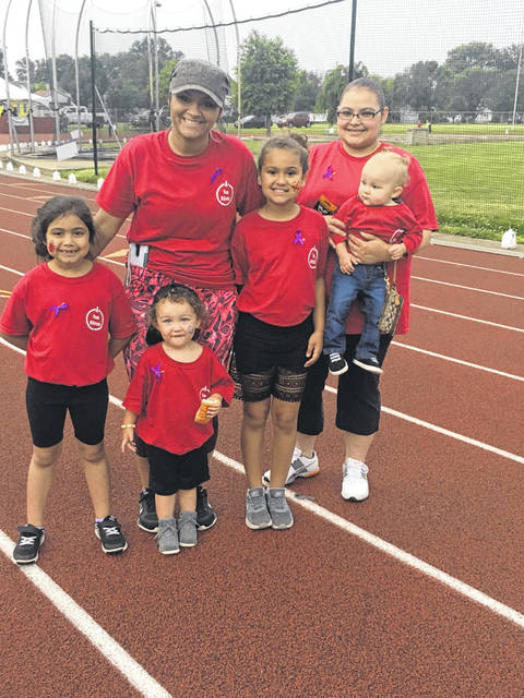 Alei-ah, Oliviya, Brooke, Jasmine, Davey and Brittany Dejarnette participated in the Relay for Life Friday as part of team McKesson.
