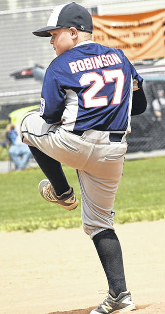Alex Robinson pitches for the Washington C.H. All-Stars in the State Little League tournament against Galion Saturday, July 28, 2018 in Ironton.