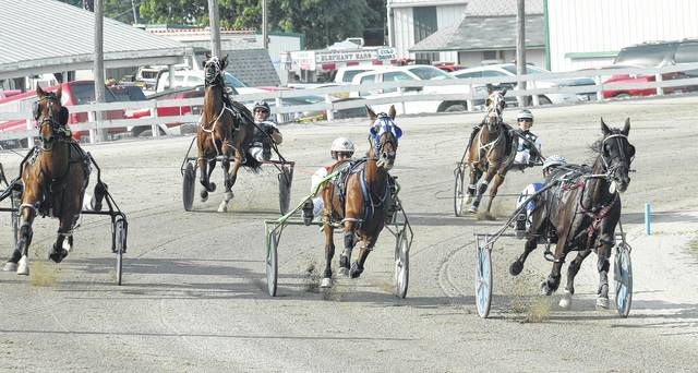 There will be 16 harness races at the Fayette County Fair Wednesday, July 18, 2018, beginning at 5:30 p.m.
