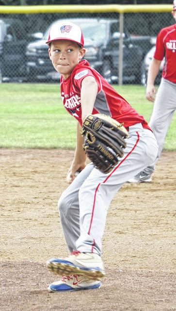 Corbin Melvin pitches for the Washington C.H. 12u All-Stars at the Little League State tournament in North Canton.