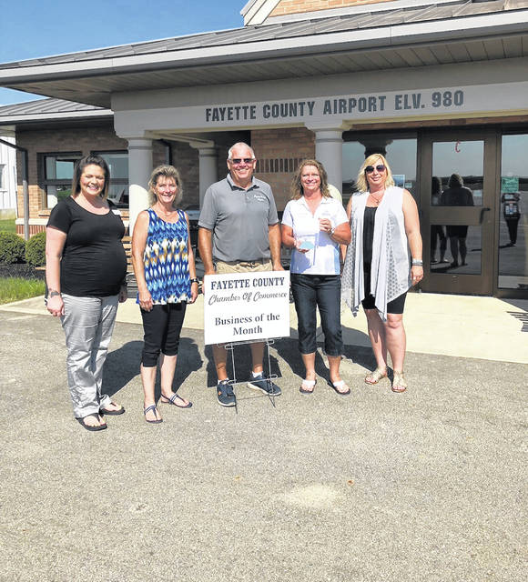 The Fayette County Chamber of Commerce recently honored the Fayette County Airport as the July Business of the Month. Located on State Route 38 just minutes from town, the Fayette County Airport is host to many events throughout the year. Airport manager Jerry Van Dyke invites the community to visit the airport and attend the great community events. A shelter house, complete with picnic tables, is available for parties, reunions and other family-friendly events. Join them Aug. 4 for the Fly-In and Runway 5K. All proceeds from the event benefit Kamp Dovetail and Honor Flights.