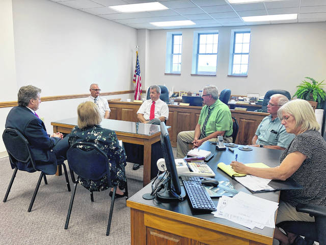 Congressman Michael Turner meets with Fayette County Commissioners Monday afternoon.