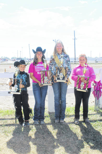 The Hi-Point winners for the 2018 Fayette County Junior Fair Horse Show were Taylor Payton, Madison Johnson, Fayette County Horse Queen Andrea Robinson and Ciara Howe.