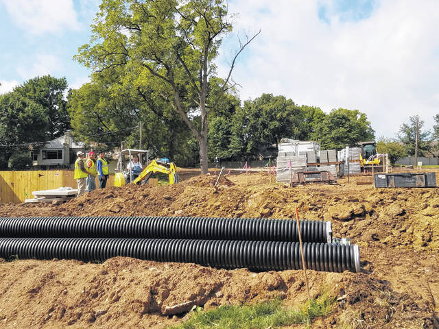 On Tuesday morning, crews from Vectren and other companies were on-site of the under-construction Sonic restaurant coming to Washington Court House. The restaurant is expected to open in October.