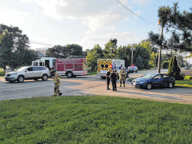 A two-vehicle accident on Highland Avenue Wednesday left one injured. Both vehicles had a single occupant and the road remained blocked while the Washington Police and Fire departments cleaned up the scene. Stay with the Record-Herald for more information.