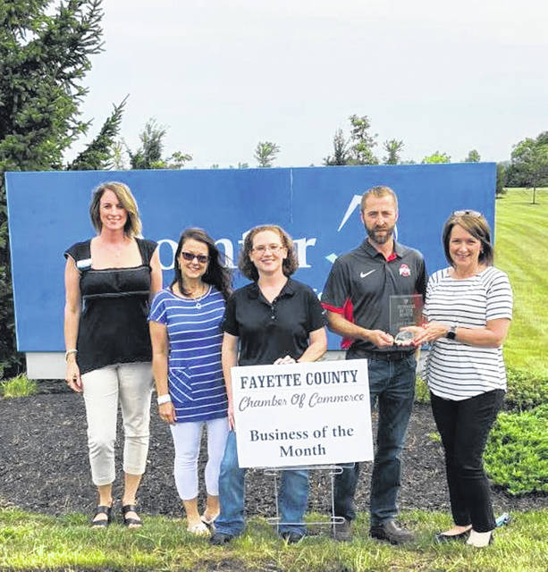 The Fayette County Chamber of Commerce recently honored Domtar Converting & Distribution as the August Business of the Month.