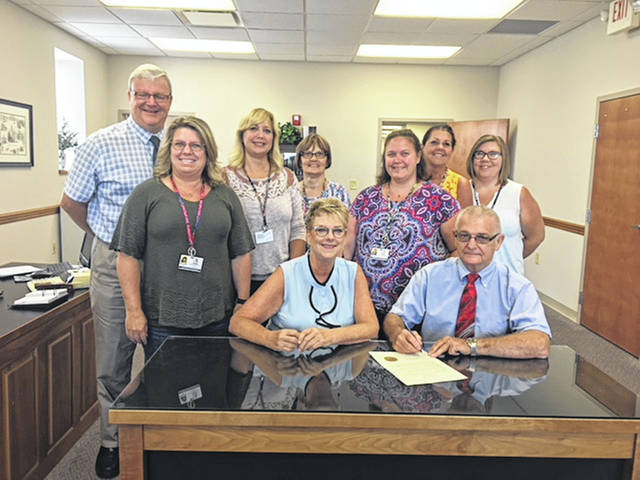 The Fayette County Commissioners signed a proclamation declaring August 2018 Child Support Awareness Month with Fayette County CSEA staff members in attendance.